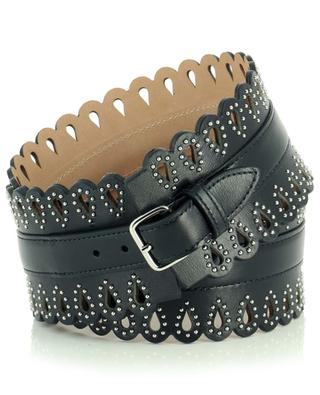 Openwork leather waist belt with studs ALAIA