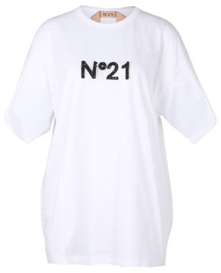 T-shirt ample orné d'un logo scintillant à scratch N°21