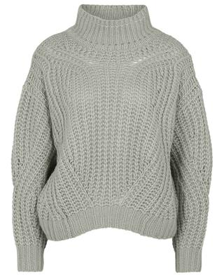 Airy XXL cable knit boxy jumper with mock neck HEMISPHERE