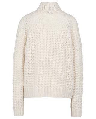 Airy boxy jumper with mock neck in cashmere and silk HEMISPHERE