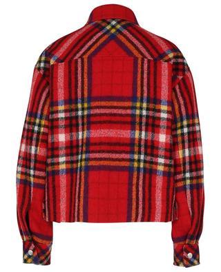 Veste raccourcie en laine à carreaux esprit surchemise BARBARA BUI