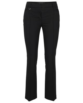 Cropped wool trousers with topstitched pleats BARBARA BUI