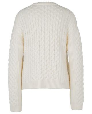 Boxy cable knit jumper in merino wool BARBARA BUI