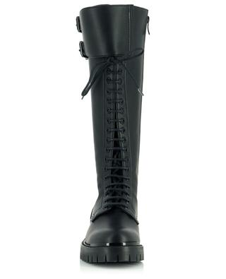 Faux leather lace-up boots with double buckle BARBARA BUI