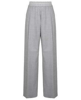 Virgin wool wide-leg trousers with elasticized waist FABIANA FILIPPI