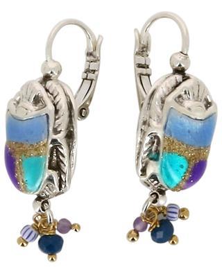 Scaramouche silver plated enameled earrings GAS BIJOUX