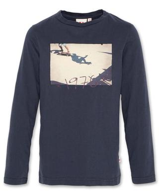 Brushed skater print long-sleeve T-shirt AO76