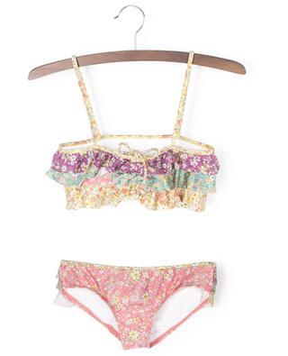 Bikini bandeau fleuri multicolore Carnaby Frill ZIMMERMANN