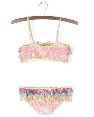 Carnaby Frill multicolour floral bandeau bikini ZIMMERMANN