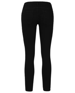 Le Low Rise Skinny Film Noir black jeans FRAME