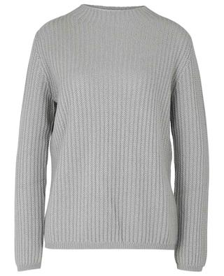Knit cashmere jumper with high neck ALLUDE