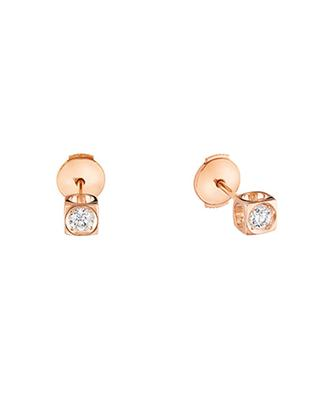 Le Cube pink gold and diamond earrings DINH VAN