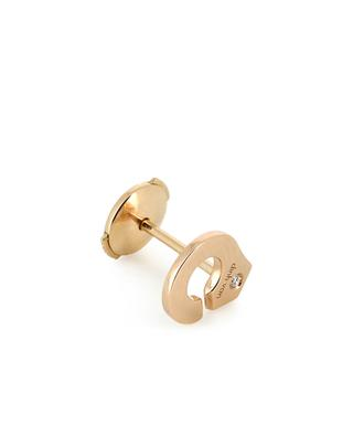 Menottes pink gold and diamond earrings DINH VAN