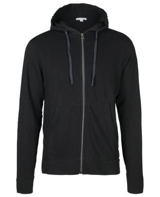 Sweat-shirt zippé à capuche effet vintage JAMES PERSE