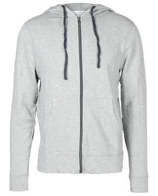 Sweat-shirt zippé à capuche en coton léger JAMES PERSE