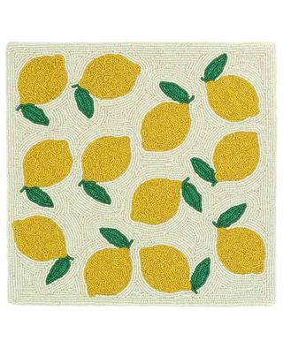 Cotton-blend lemon pillow cover A LA