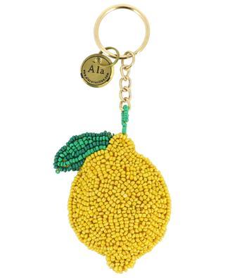 Beaded lemon keychain A LA