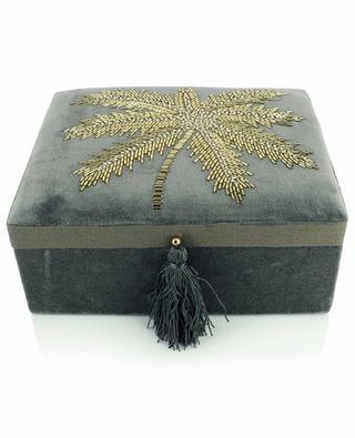 Boîte à bijoux en velours avec palmier A LA