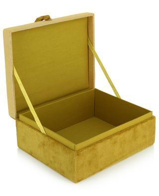 Boîte à bijoux en velours avec motifs coquillages A LA