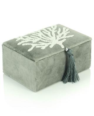 Velvet box with coral decoration A LA