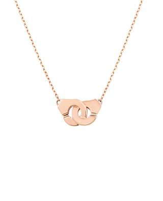 Collier Menottes R8 en or rose DINH VAN