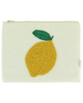 Kosmetikbeutel aus Baumwolle mit Zitronenmotiv A LA