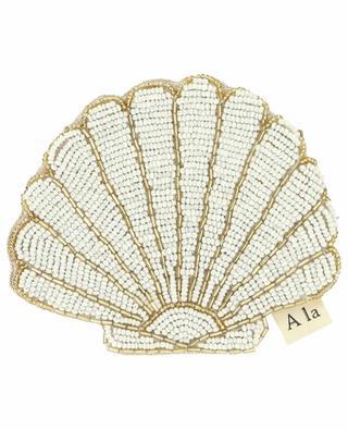 Petite pochette brodée de perles Shell A LA