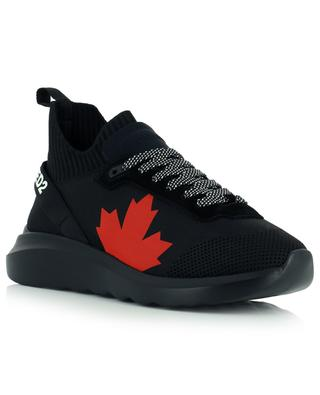 Speedster sock sneakers with maple leaf print DSQUARED2