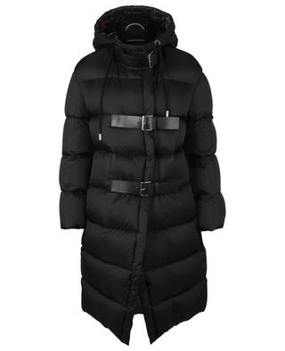 Hooded down jacket with leather details ERMANNO SCERVINO