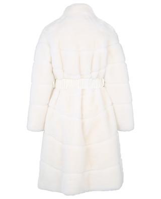 Belted faux fur coat ERMANNO SCERVINO