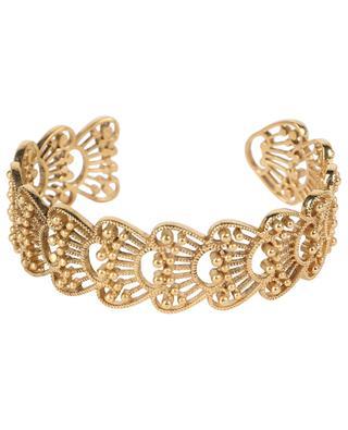 Manschette aus ziseliertem goldenem Metall Aimée LA2L