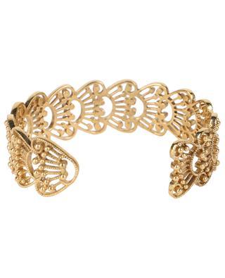 Aimée chiselled golden metal cuff LA2L
