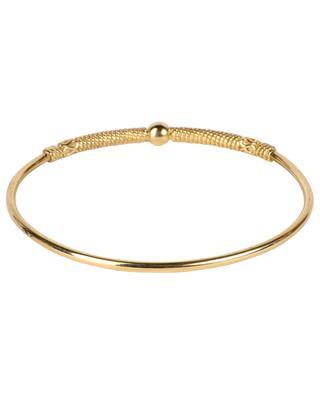 Geschlossener goldener Armreif mit Kordel-Motiv Jasmine 1 LA2L