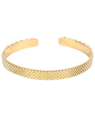 Jasmine Perles golden bangle with turquoise LA2L