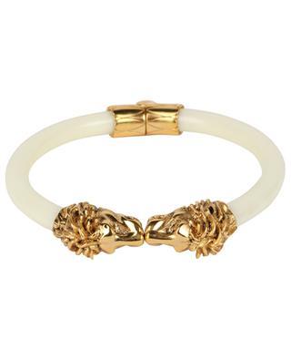 Aya Lion bracelet in resin and golden brass LA2L