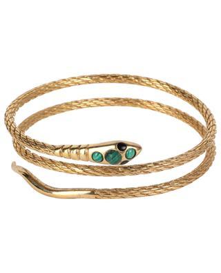 Sissi Serpent Pierre golden bracelet with malachite LA2L