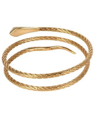 Goldener Armreif mit Malachit Sissi Serpent Pierre LA2L