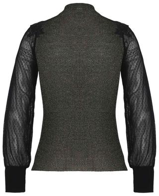 Lurex and tulle top with turtleneck LISANZA