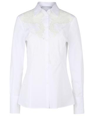 Hemd aus Baumwollpopeline mit Spitze ERMANNO SCERVINO