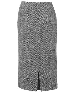 Chevron pattern cashmere and virgin wool pencil skirt ERMANNO SCERVINO
