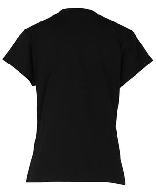 Cotton T-shirt with leopard appliqué ERMANNO SCERVINO