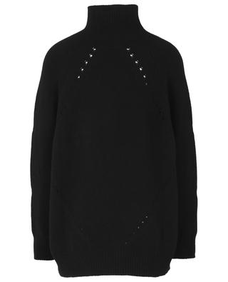 Cashmere blend jumper with high collar ERMANNO SCERVINO