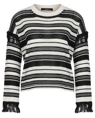 Canga striped cropped linen jumper with fringes WEEKEND MAX MARA