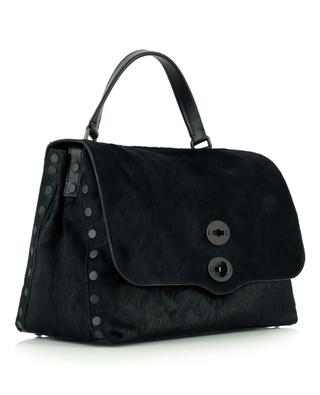 Postina M Linea Flirt Bagheera pony leather hand bag ZANELLATO