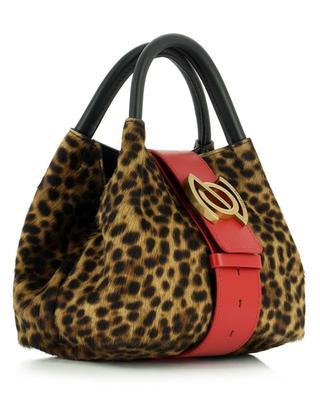 Zoe Baby Linea Flirt Simba small leopard print pony leather handbag ZANELLATO