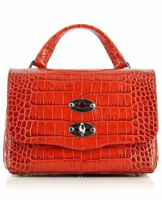 Postina Baby Linea Ritratto Vignola small crocodile embossed handbag ZANELLATO