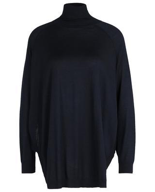 Thin oversized cashmir and silk turtleneck jumper BRUNELLO CUCINELLI