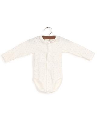 Lamicale long-sleeved organic cotton bodysuit with star print PETIT BATEAU