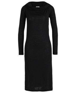 Thin sheath knit dress with large turtleneck BRUNELLO CUCINELLI