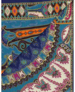 Delhy oriental print wool and silk twill scarf ETRO